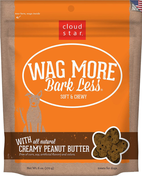 Wag More, Bark Less Soft Creamy Peanut Butter 6oz