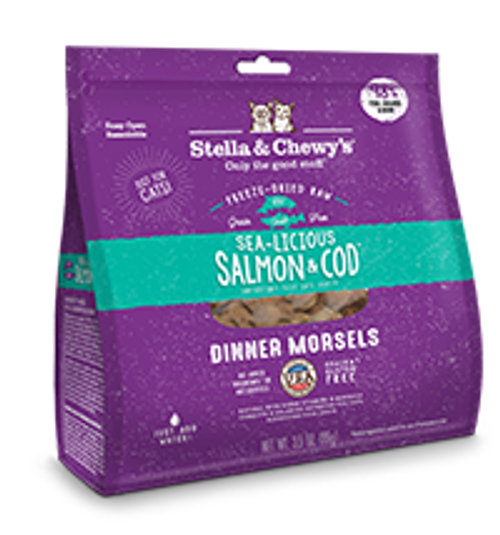 Stella & Chewy's Cat Freeze-Dried Dinner Morsels Salm/Cod