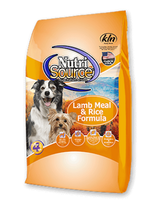 NutriSource Dog Lamb Meal & Rice