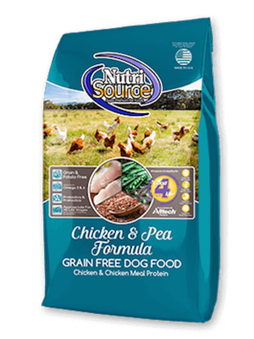 NutriSource Dog Grain-Free Chicken & Peas