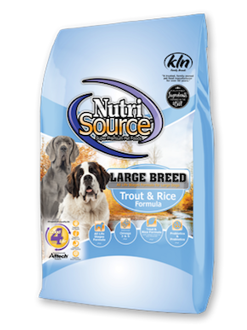 NutriSource Large Breed Trout & Rice
