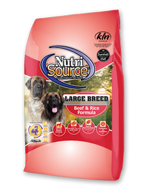 NutriSource Large Breed Beef & Rice