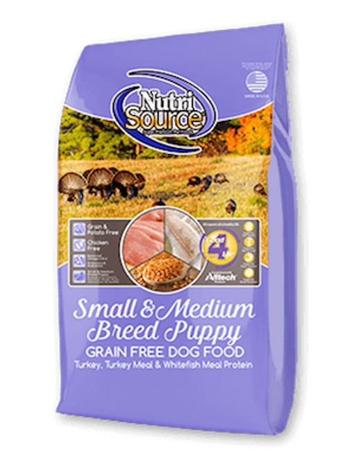 NutriSource Grain-Free Small/Medium Breed Puppy Turkey
