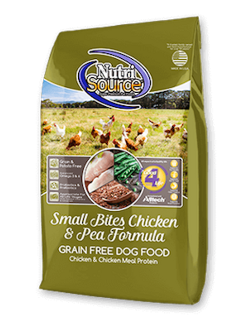 NutriSource Dog Small Bites Grain Free Chicken & Peas