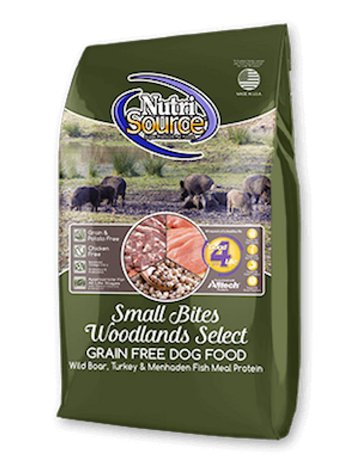 NutriSource Dog Small Bites Grain-Free Woodlands