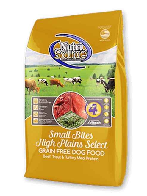 NutriSource Dog Small Bites Grain-Free High Plains