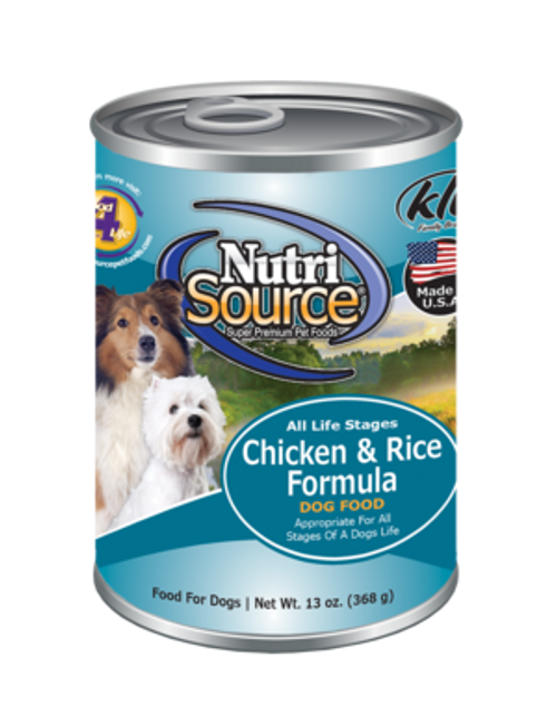 NutriSource Chicken & Rice Can 13oz