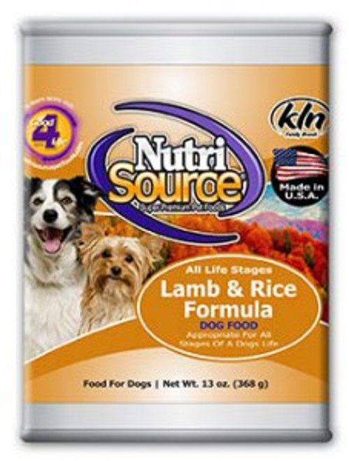 NutriSource Lamb Meal and Rice Formula 13oz
