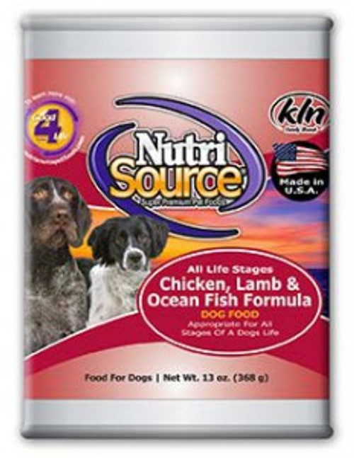 NutriSource Chicken, Lamb & Ocean 13oz