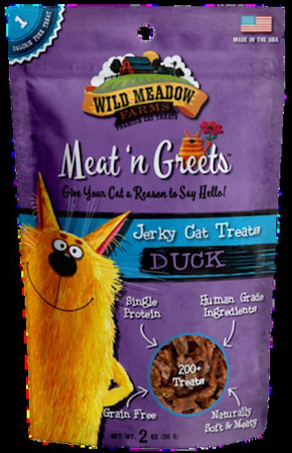 Wild Meadows Meat 'n Greets Cat Treat - Duck - 2oz