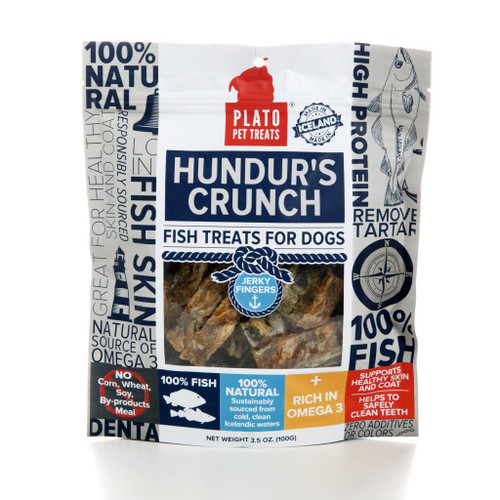 Plato Hundur's Crunch Fish Fingers 3.5oz