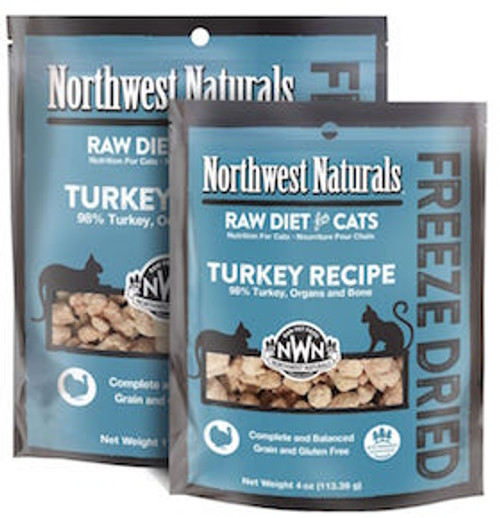 Northwest Naturals Cat Freeze-Dried Turkey Nibbles 4oz