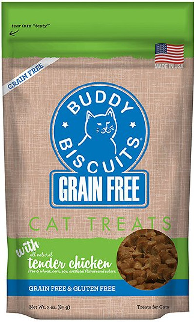 Buddy Biscuits Grains Free with Tender Chicken Cat Treats 3oz