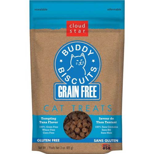 Buddy Biscuits Grain-Free with Tempting Tuna Cat Treats 3oz