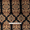 Black/Gold Stained Glass Polyester Ponte Roma Print Fabric