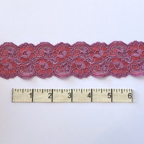 Hydrangea/Tomato Flower Swirl Stretch Lace