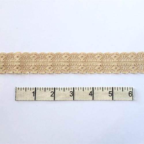 Sand Double Diamond Stretch Lace