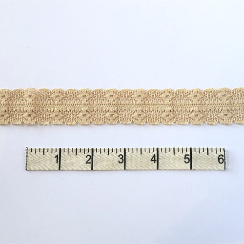 Sand Double Diamond Stretch Lace