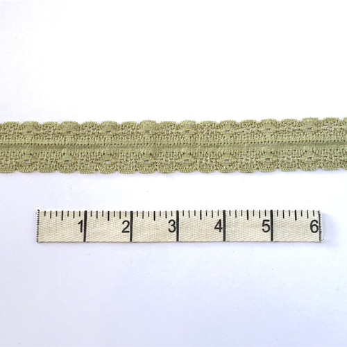 Light Olive Double Diamond Stretch Lace