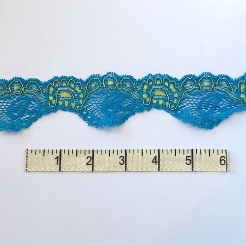 Neptune/Olive Paisley Stretch Lace