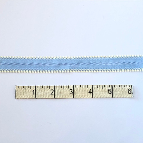 Winter Blue/Buttermilk Zipper Stretch Lace
