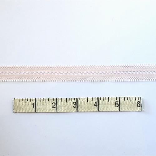 Rose/White Zipper Stretch Lace