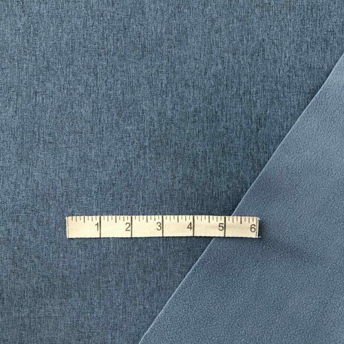 Blue Melange Softshell Fabric