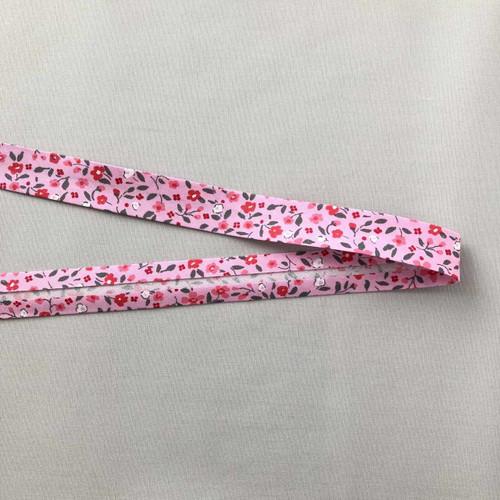 Pink Floral Bias Binding
