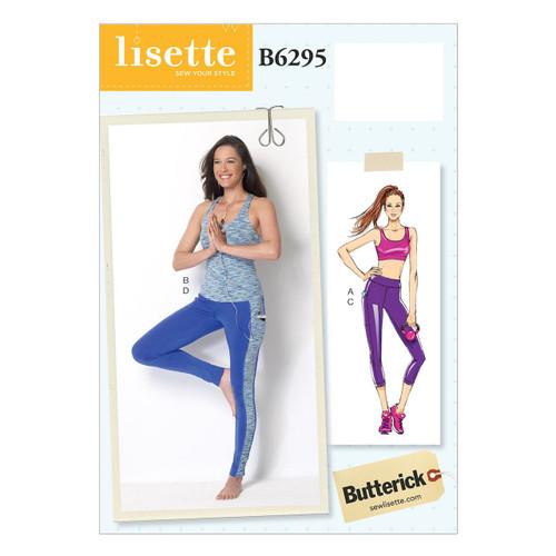 Butterick 6295 Misses' Bra Top, Top and Leggings