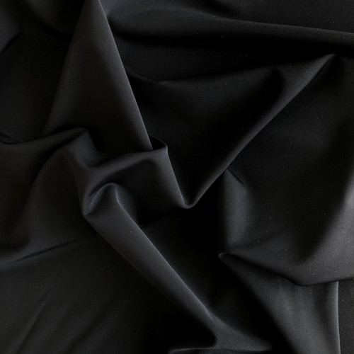 Matt Black Swimwear/Activewear Fabric