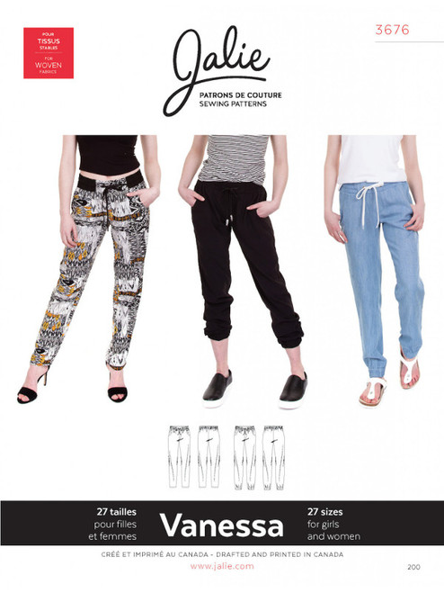 Jalie 3676 Vanessa Trouser Sewing Pattern
