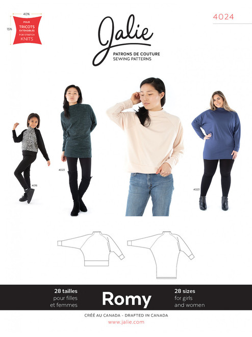 Jalie 4024 Romy Sweater/Tunic Sewing Pattern