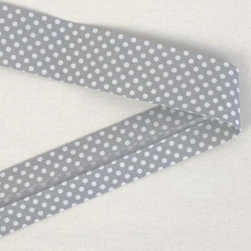 Grey Spot 30mm Bias Binding