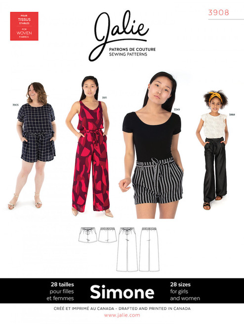 Jalie 3908 Simone Trouser Sewing Pattern