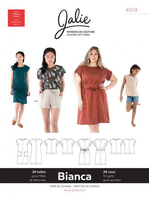 Jalie 4019 Bianca Top/Dress Sewing Pattern