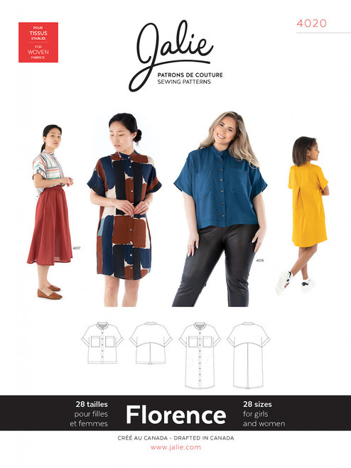 Jalie 4020 Florence Top/Dress Sewing Pattern