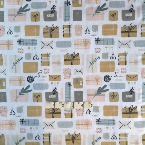 Blush Wrapping Cotton Print Fabric