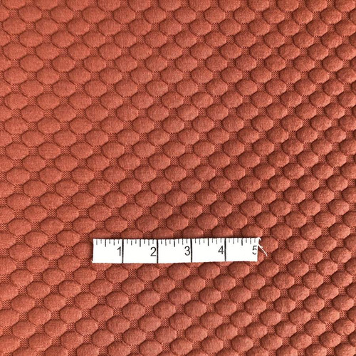 Rust Textured Jersey Fabric