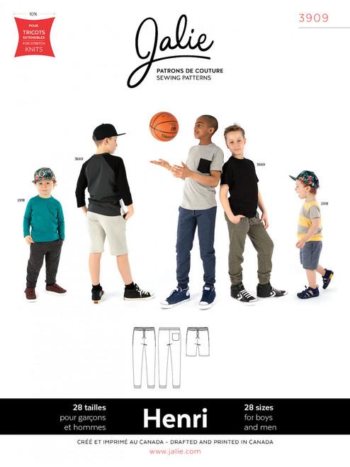 Jalie 3909 Men's Henri Joggers & Shorts Sewing Pattern