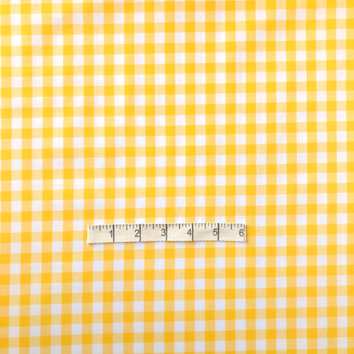 Yellow Gingham Cotton Fabric