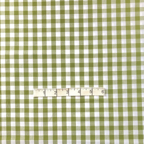 Green Gingham Cotton Fabric