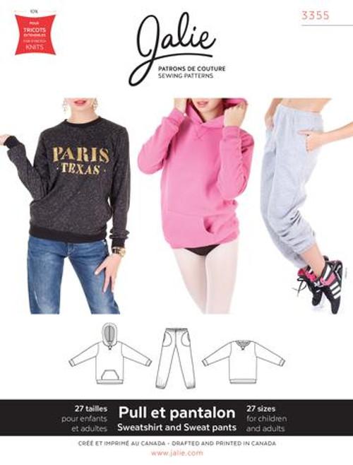 Jalie 3355 Sweatpants Sweatshirt & Hoodie Pattern