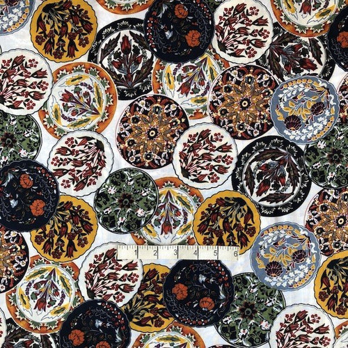 Multi Kaleidoscope Cotton Fabric