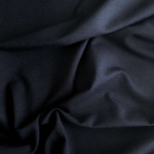 Black T-shirt Cotton Jersey Fabric