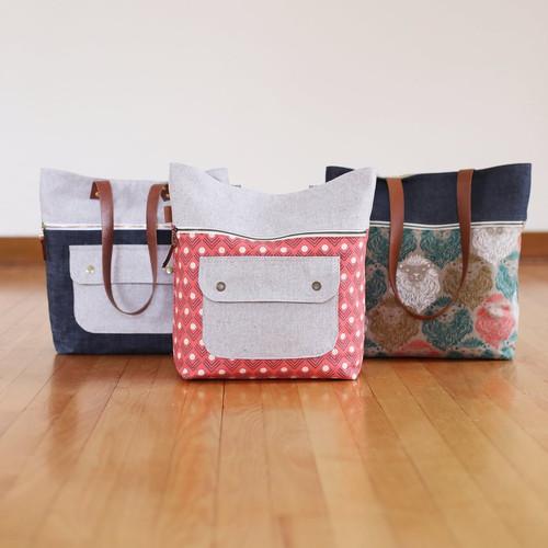 Noodlehead Caravan Tote + Pouch Bag Pattern