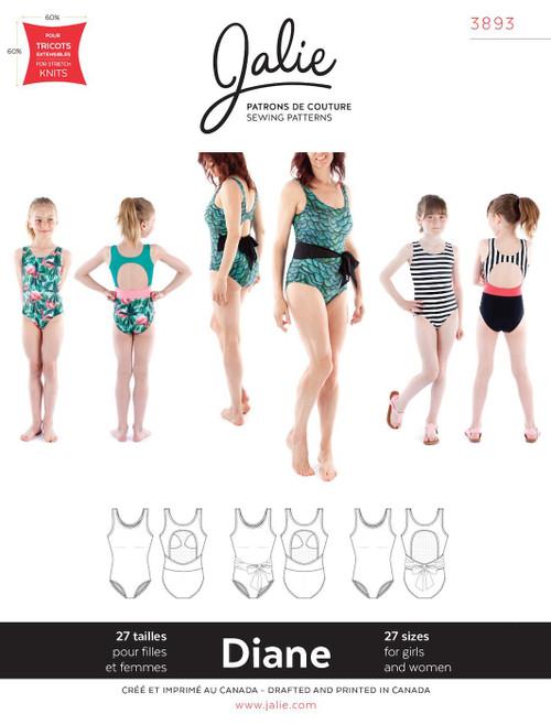 Jalie 3393 Diane Tank Swimsuit Pattern