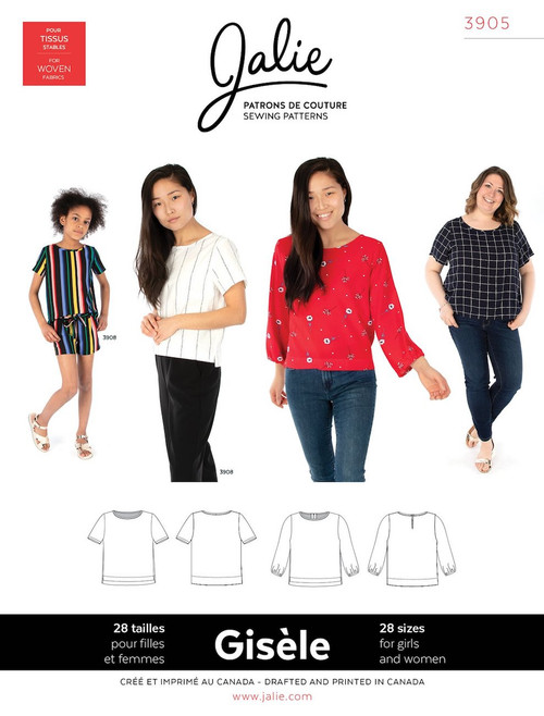 Jalie 3905 Gisele Top Sewing Pattern