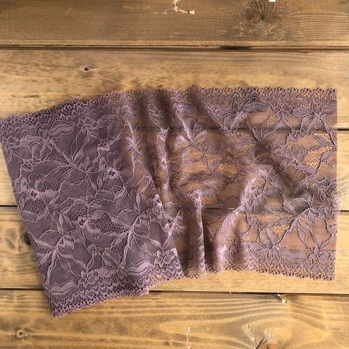 Mauve Floral 21 cm Stretch Lace