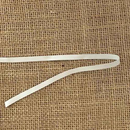 White 6mm Swim Rubber Elastic