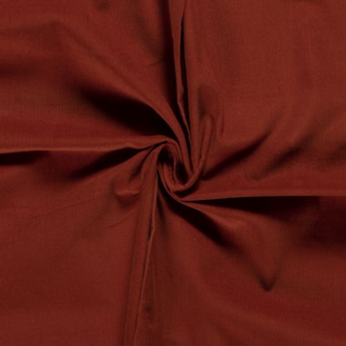 Rust Cotton Needlecord Fabric
